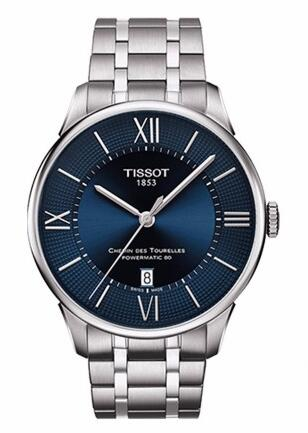 For this exquisite fake Tissot watch , that adopted the 42mm stainless steel case matching the special dark blue dial, completely showing the elegance of Tissot.