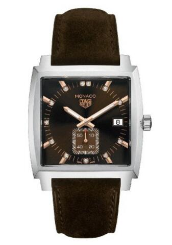 No matter for the rose gold scale, steel case, chocolate dial and brown strap, all these details just show us a kind of elegant fake TAG Heuer watch