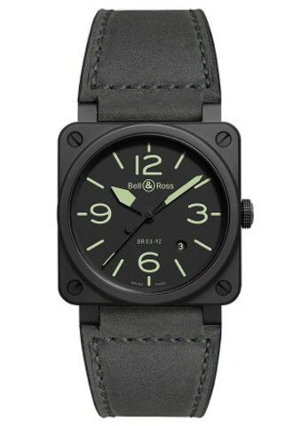 For the cool design style, this replica Bell&Ross watch deeply shows the masculine feeling