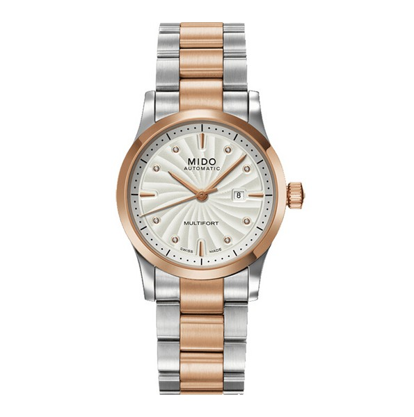 For the steel and rose gold material and dazzling diamonds, this replica Mido watch directly attracted a lot of ladies.