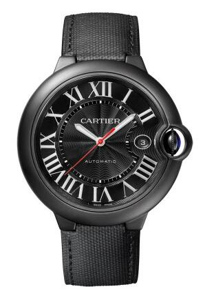 With a bright red second hand, that highlights the whole design of this fake Cartier watch.