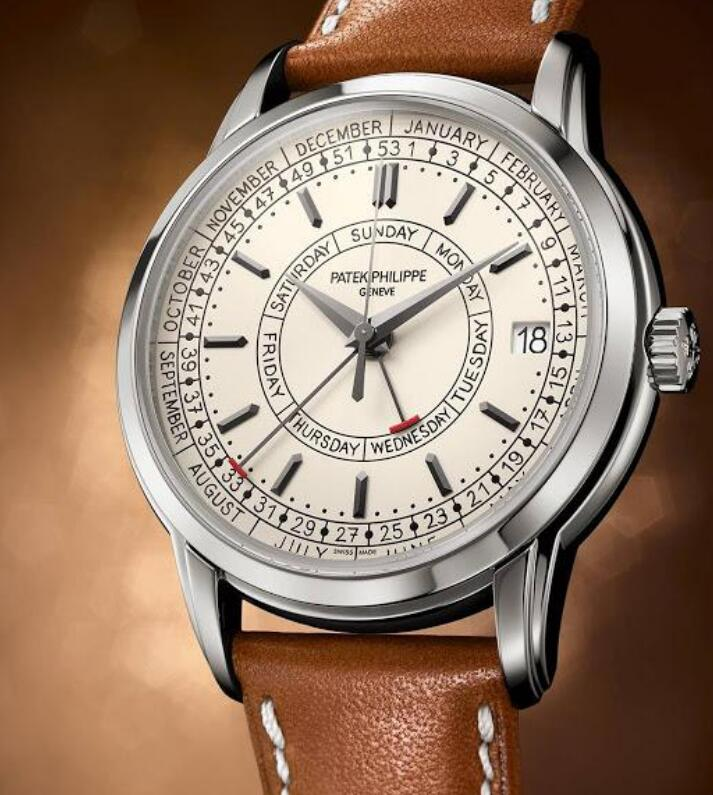 The timepiece has combined the elegant appearance and complicated functions.