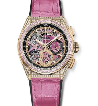 It is the first time that Zenith uses the pink to describe the movement.