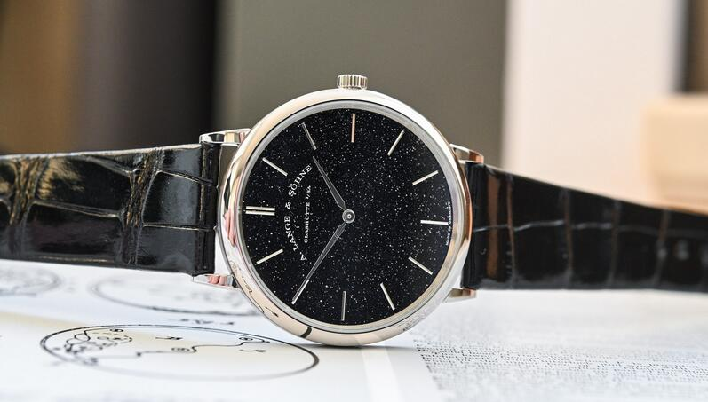 Swiss fake watches are formal with black color.