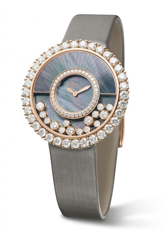Swiss made fake watches are graceful and valuable with rose gold decoration.